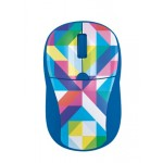 Primo Wireless Mouse - blue geometry