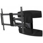 Quad arm support folds flat to wall. Eas