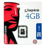 4GB microSDHC Class 4 Flash Card Single