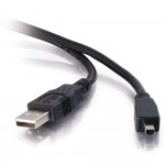2m USB 2.0 A / MINI-B 4-PIN CBL BLK