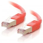 10M SHIELD CAT5E MOULDED PATCH CBL RED