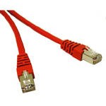 4M SHIELD CAT5E MOULDED PATCH CBL RED