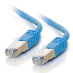 100M SHIELD CAT5E MOULDED PATCH CBL BLUE
