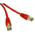 15M SHIELD CAT5E MOULDED PATCH CBL RED