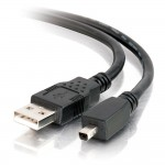 1m USB 2.0 A / MINI-B 4-PIN CBL BLK