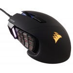 GAMING SCIMITAR MOBA/MMO BLACK OPICAL GAMING MOUSE