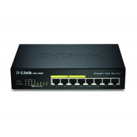 8 PORT POE GIGABIT DTOP SWITCH DUAL PSU
