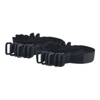 280MM HOOK-LOOP CBL STRAPS BLK 12PK