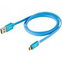 REVERSIBLE MICRO CHARGE & SYNC CABLE W LED-BLUE 3F